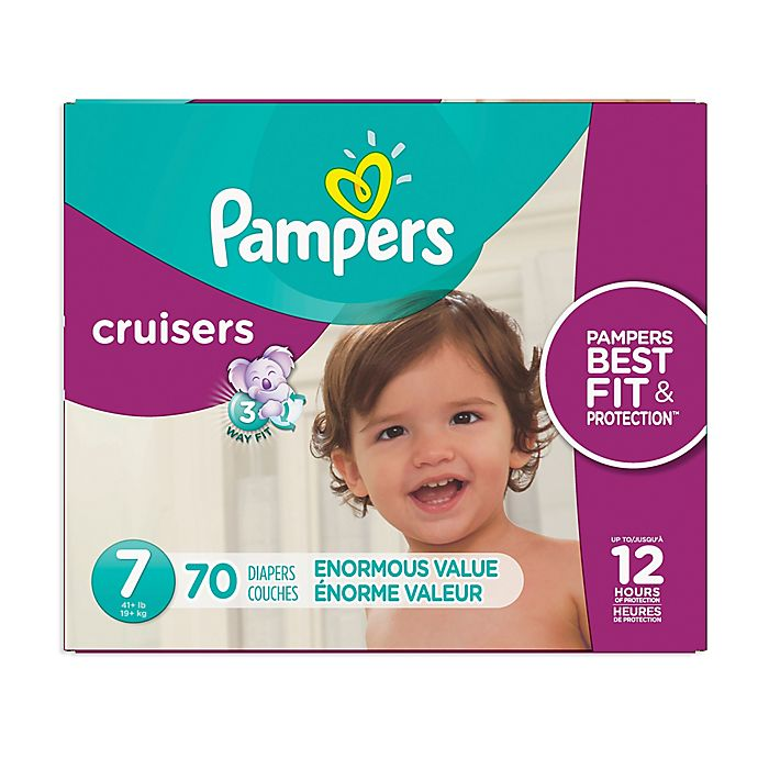Alternate image 1 for Pampers® Cruisers™ Size 7 70-Count Disposable Diapers