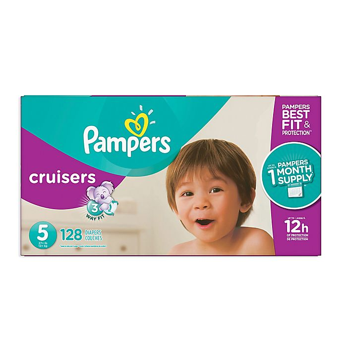 Alternate image 1 for Pampers® Cruisers™128-Count Size 5 Pack Disposable Diapers