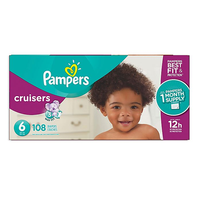 Alternate image 1 for Pampers® Cruisers™ Size 6 108-Count Disposable Diapers