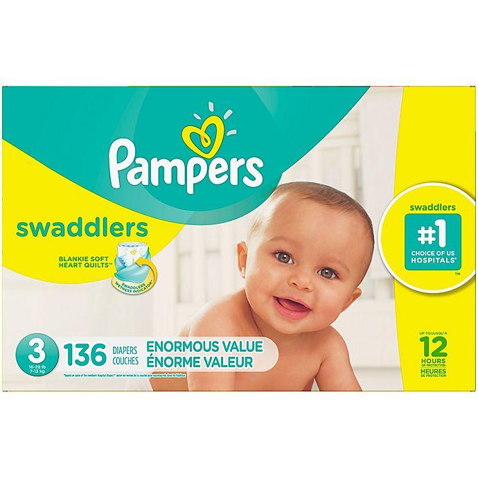 Pampers NEW with Heart Quilt Liner Swaddlers Diapers Size 5-132 COUNT