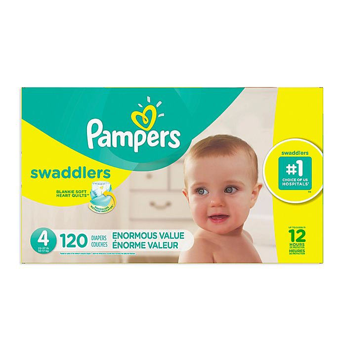 Alternate image 1 for Pampers® Swaddlers™ 120-Count Size 4 Pack Diapers