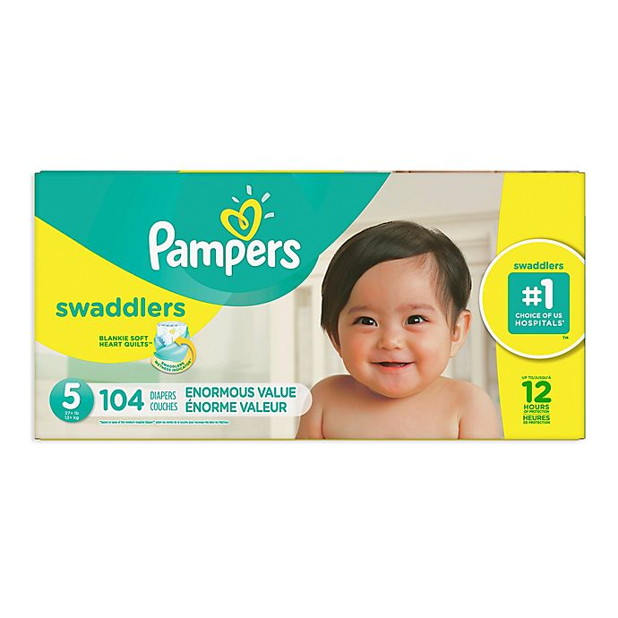 Alternate image 1 for Pampers® Swaddlers™ 104-Count Size 5 Pack Diapers