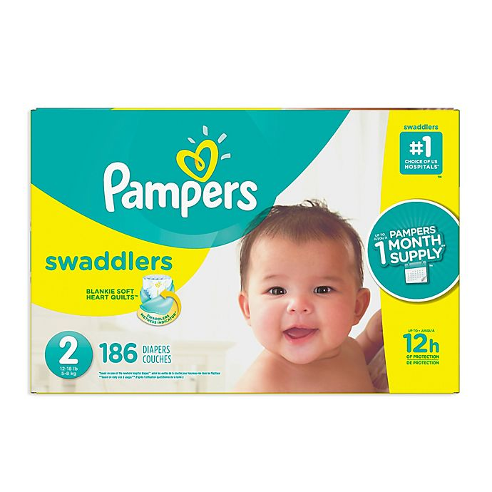 Alternate image 1 for Pampers® Swaddlers™ 186-Count Size 2 Pack Diapers