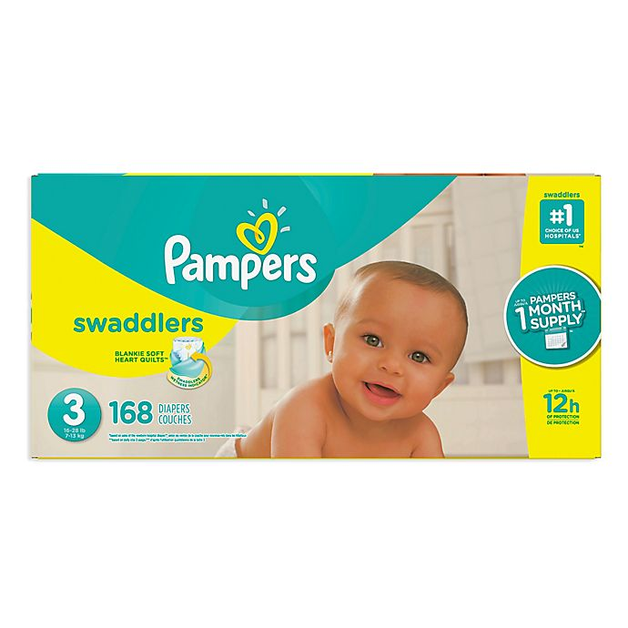 Alternate image 1 for Pampers® Swaddlers™ 168-Count Size 3 Pack Diapers