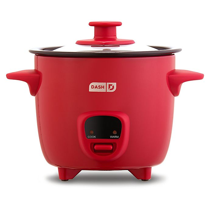 Alternate image 1 for Dash® Mini Rice Cooker in Red