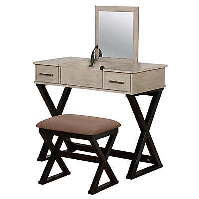 Linon Home 2-Piece Alexis Vanity Set