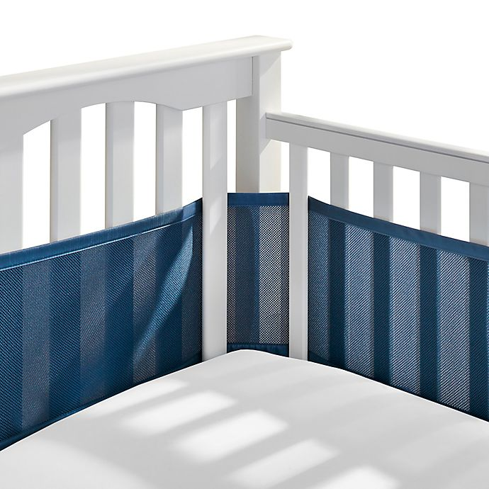 Alternate image 1 for BreathableBaby® Breathable Mesh Crib Liner in Navy