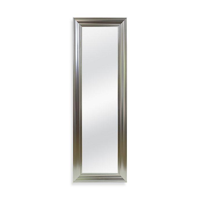 Alternate image 1 for No-Tools Over-the-Door Mirror in Brushed Nickel