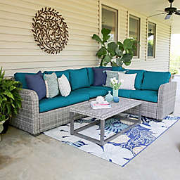 Leisure Made Forsyth 5-Piece Outdoor Sectional Set