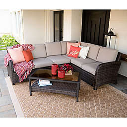 Leisure Made Jackson 5-Piece Outdoor Sectional in Tan