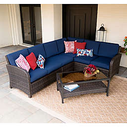 Leisure Made Jackson 5-Piece Outdoor Sectional in Navy