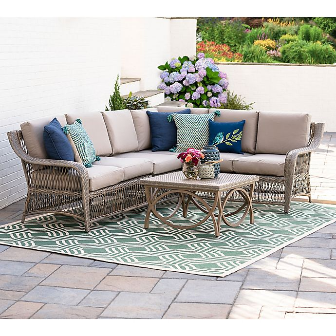 Sectional Sofas Birmingham Al: Leisure Made Birmingham 5-Piece Outdoor Sectional