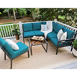 Leisure Made Blakely 5-Piece Outdoor Sectional Set in Peacock