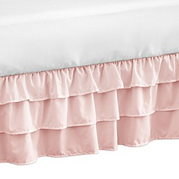 Sweet Jojo Designs Harper Crib Bed Skirt in Pink