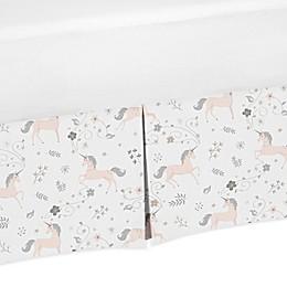 Sweet Jojo Designs Unicorn Toddler Bed Skirt in Pink