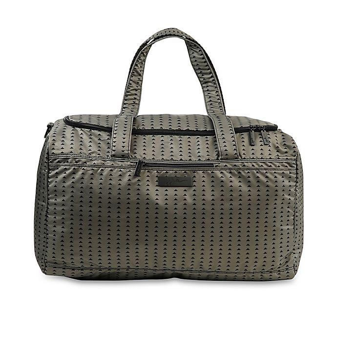 Alternate image 1 for Ju-Ju-Be® Super Star Duffle Diaper Bag in Black/Olive