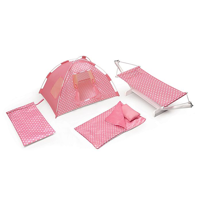 Alternate image 1 for Badger Basket Doll Tent Camping Playset