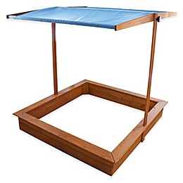 Sand Box with Canopy in Red Hemlock