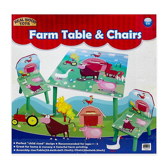 Alternate image 1 for Farm 3-Piece Table and Chairs Set