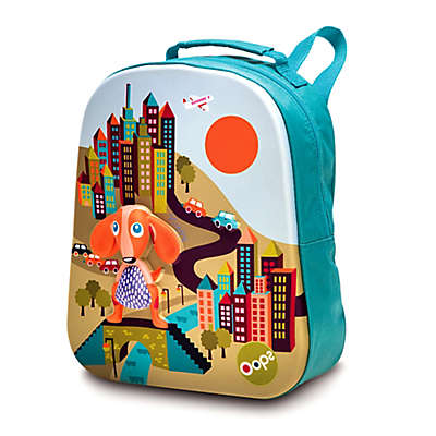 Oops Happy Dog Soft Backpack in Blue