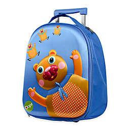 Oops 3D Bear Easy  Trolley Backpack in Blue