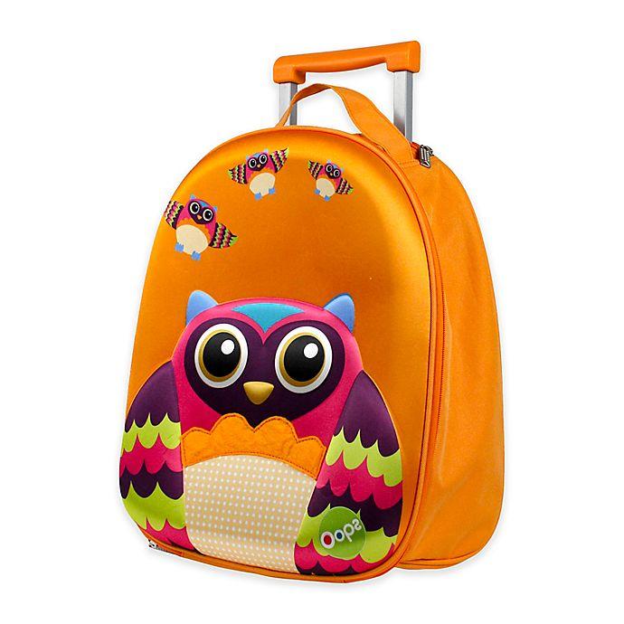 Alternate image 1 for Oops 3D Owl Easy Trolley Backpack in Orange