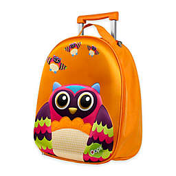 Oops 3D Owl Easy Trolley Backpack in Orange