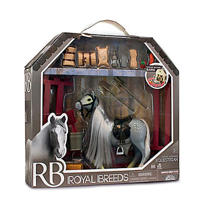 Lanard Toys Royal Breeds 21-Piece Equestrian Play Set in White