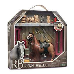 Lanard Toys Royal Breeds 21-Piece Equestrian Play Set in Brown