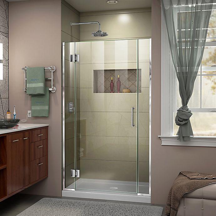 Alternate image 1 for DreamLine® Unidoor-X 37.5-38-Inch x 72-Inch Frameless Hinged Shower Door in Chrome