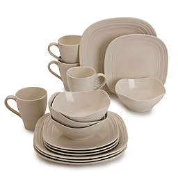 Mikasa® Swirl Square 16-Piece Dinnerware Set in Cream