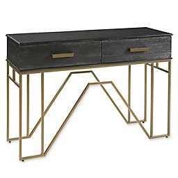 Madison Park Signature Paragon Console Table in Black/Antique Bronze