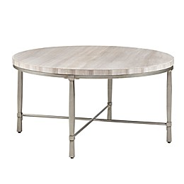 Madison Park Reese Coffee Table in Cream/Silver