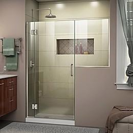 DreamLine® Unidoor-X 58-58.5-Inch x 72-Inch Frameless Hinged Shower Door