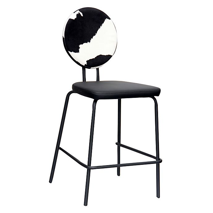 Phenomenal Acessentials Cow Print Bar Stool In Black White Bed Bath Dailytribune Chair Design For Home Dailytribuneorg