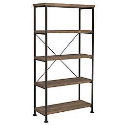 Bailey 4-Tier Bookcase in Rustic Oak