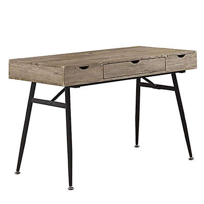 Mayfair Industrial Writing Desk in Driftwood