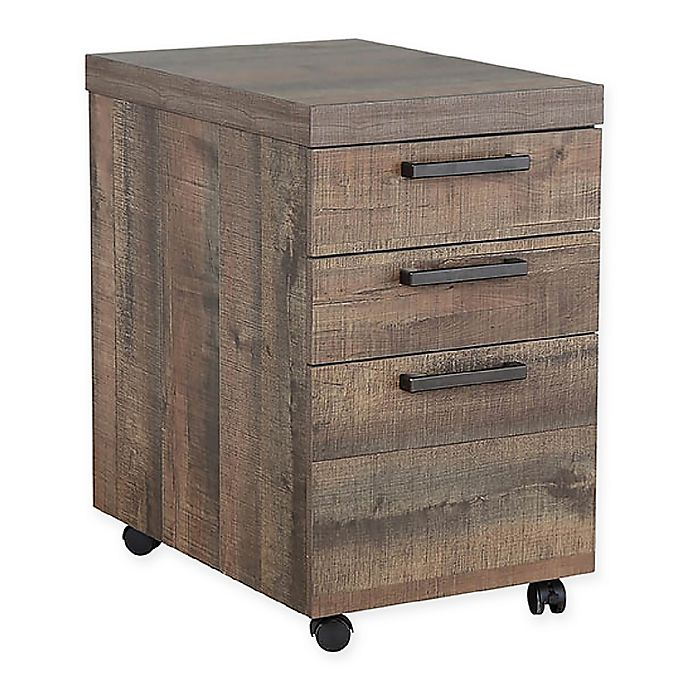 Alternate image 1 for Pineville Mobile File Cabinet in Weathered Oak