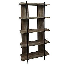 Bay Rustic Bookcase in Weathered Oak