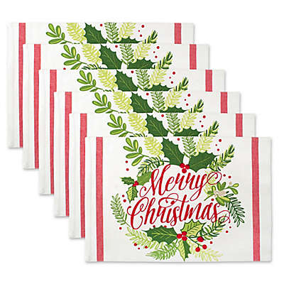 Design Imports Merry Christmas Placemat (Set of 6)