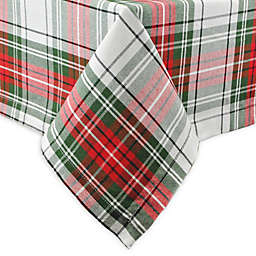 DII Christmas Plaid Tablecloth