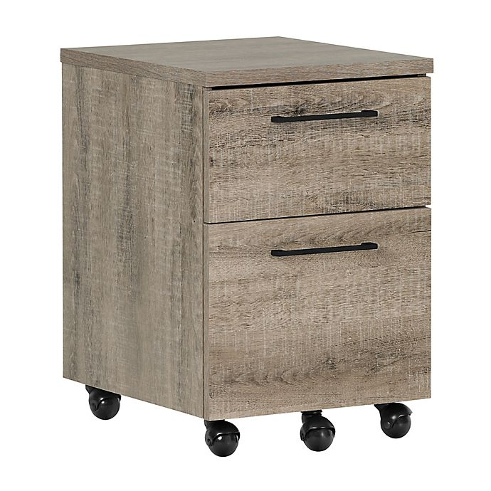 Alternate image 1 for South Shore Munich 2-Drawer Mobile File Cabinet in Weathered Oak