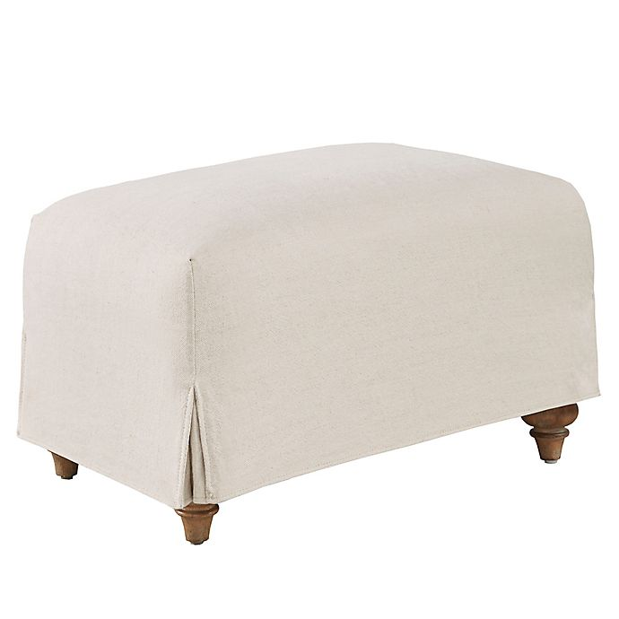 Alternate image 1 for Harbor House™ Cotton Upholstered Marina Ottoman in Flax