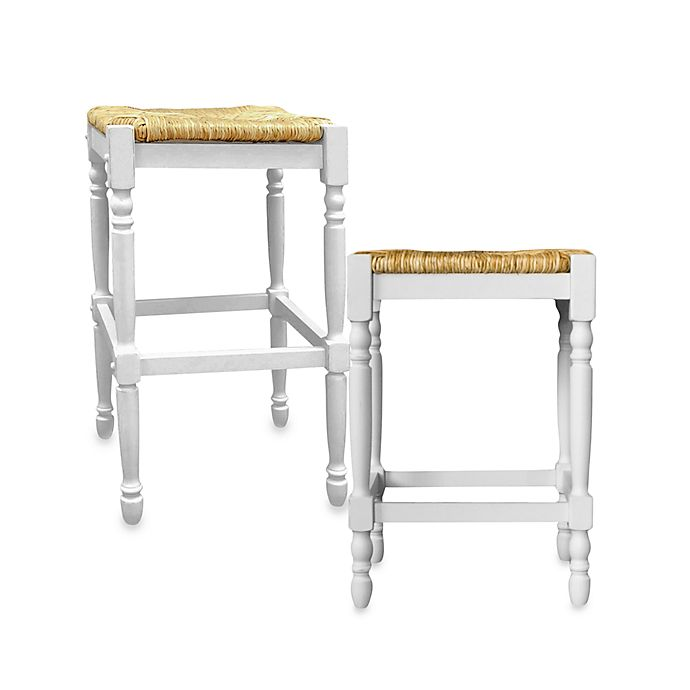 Alternate image 1 for Carolina Chair & Table Company Antique Hawthorne Stools in White
