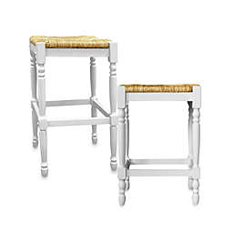 Carolina Chair & Table Company Antique Hawthorne Stools in White