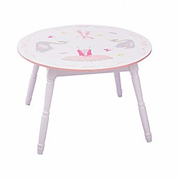 Fantasy Fields Swan Lake Table in White/Pink