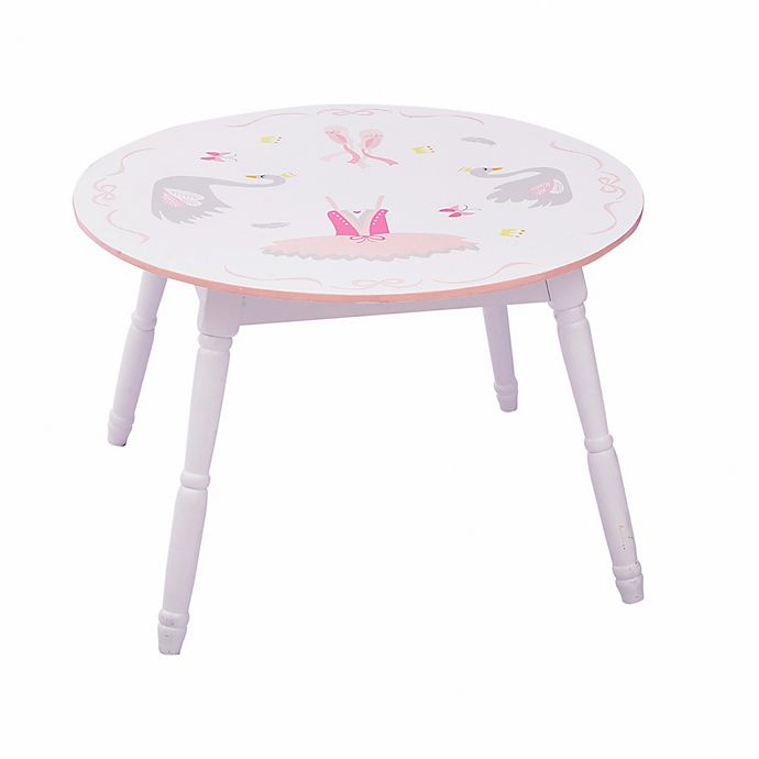 Alternate image 1 for Fantasy Fields Swan Lake Table in White/Pink
