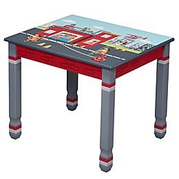 Fantasy Fields Little Fire Fighters Table in Red