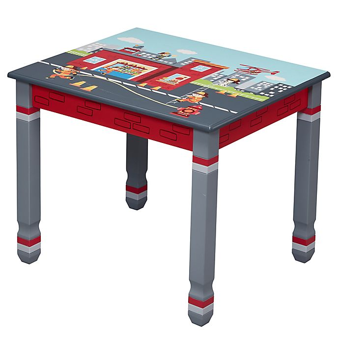 Alternate image 1 for Fantasy Fields Little Fire Fighters Table in Red