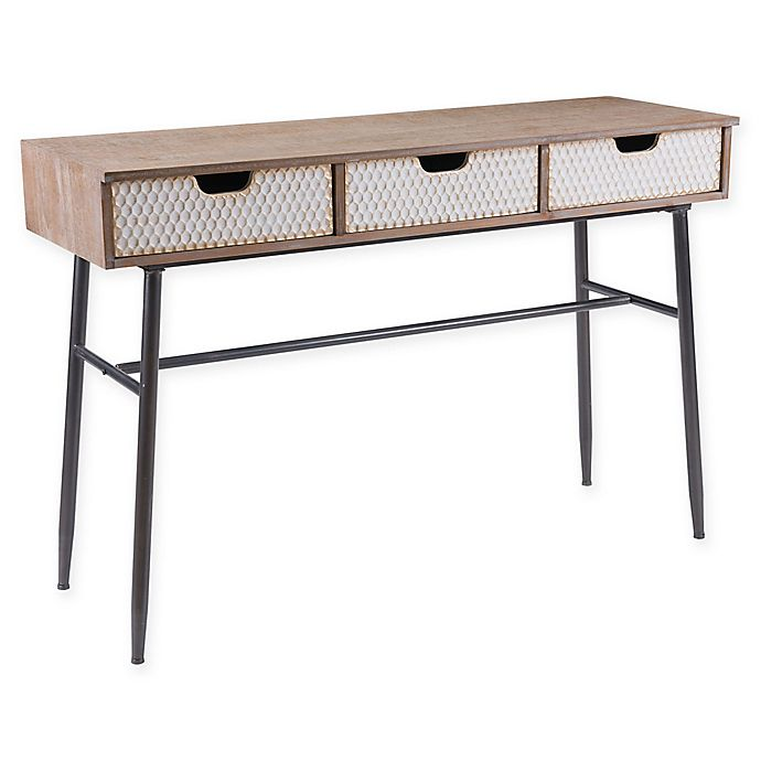 Alternate image 1 for Zuo® Writing Desk in Natural/White